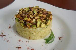 Risoto de Aspargos em Crosta de Pistache