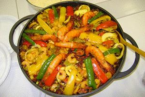 Paella de Arroz Vermelho