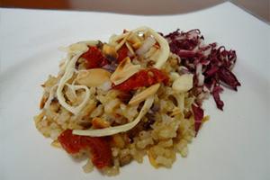 Salada de Arroz Cateto com Anchovas