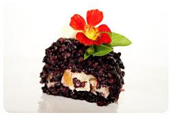 Torta de Arroz Preto com Palmito