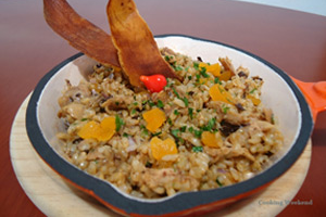 Galinhada com Arroz Cateto